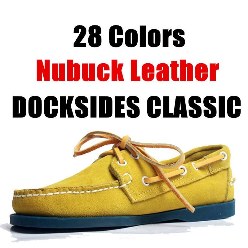 Men Genuine Suede Leather Driving Shoes,Docksides Classic Boat Shoe,Brand Design Flats Loafers For Men Women 2019A014