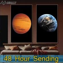 Декорации на холсте земля Сатурн венерина холст настенные картины