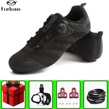 цена на Tiebao men Road Cycling Shoes Self-Locking Ultralight bike shoes Professional Bicycle Racing Athletic Sneaker sapatilha ciclismo
