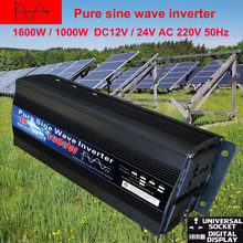 Czysta fala sinusoidalna inwerter DC 12V 24V do AC 220V 110V 60Hz 500W 1000W 2000W konwerter zasilania Booster dla samochodów gospodarstwa domowego DIY