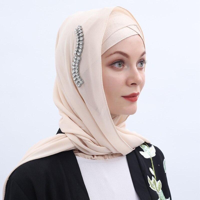 75*180cm Women Plain Bubble Chiffon Scarf Hijab Wrap Shawls Headband Muslim Hijabs Scarves Malaysia Hijab Wrap Shawls Headband