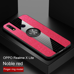 На Алиэкспресс купить чехол для смартфона for oppo realme x2 q magnetic ring phone case with holder matte leather armor case for realme x lite soft silicone tpu back capa