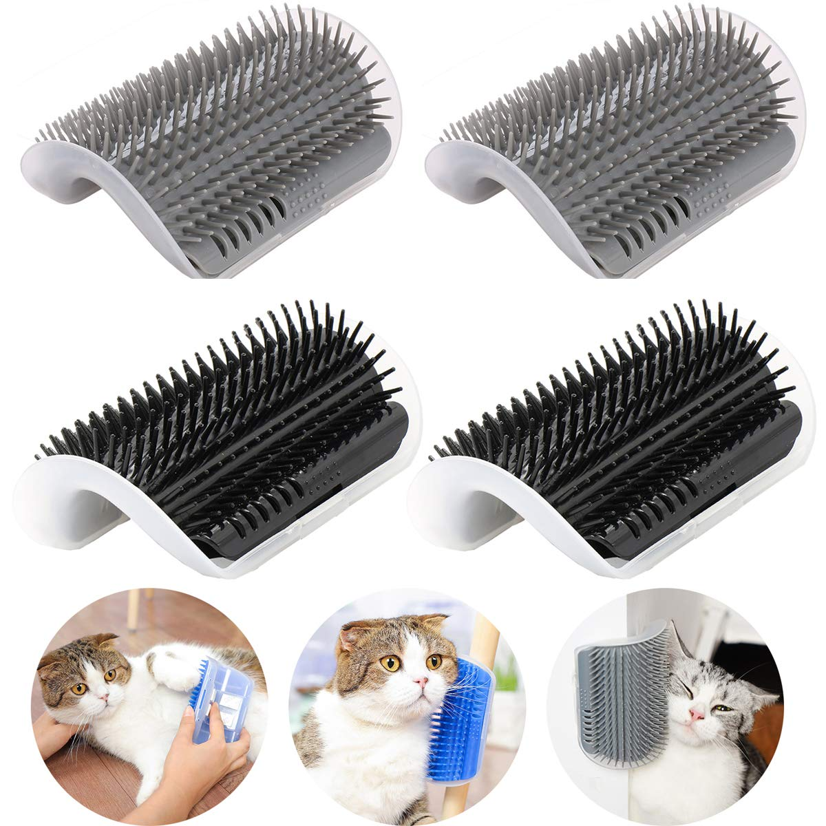 Cat Self Groomer Brush with Catnip Pet Massage Supplies Hair Removal Comb for Dog Cat Corner Groomer Cat Scratch Massager Tool 1