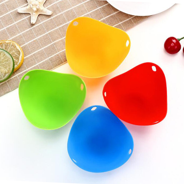 4pc/1pc Egg Poachers Silicone Egg Cooker Kitchen Tools Pancake Cookware Bakeware Steam Eggs Plate Tray Healthy Egg Pancake 3