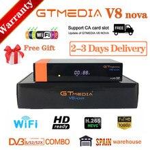 Completo hd gtmedia v8 nova DVB-S2 receptor de satélite gtmedia v8x atualização de freesat v8 honra built-in wifi gtmedia v9 super sem ap