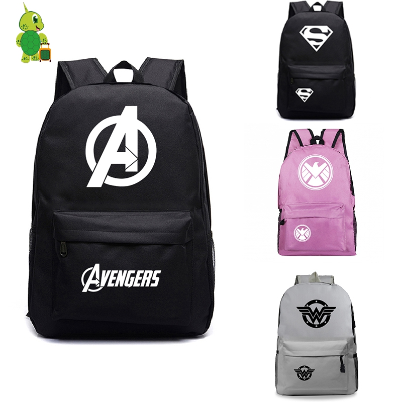 2019 The Avengers Backpack Women Men's Bags Laptop Backpack School Bags For Teens Flash Iron Man Captain America Travel Bagpack