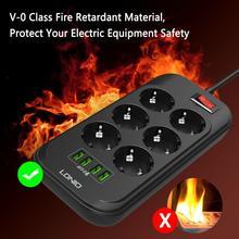 Быстро Зарядное устройство 17 Вт 3.4A 4-портовый USB зарядное устройство быстрой зарядки дома на выходе 6 штепсельная вилка европейского стандар...