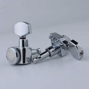 Image 5 - Guyker 6R/6L機ヘッドなしネジロックチューニングキーペグチューナークローム