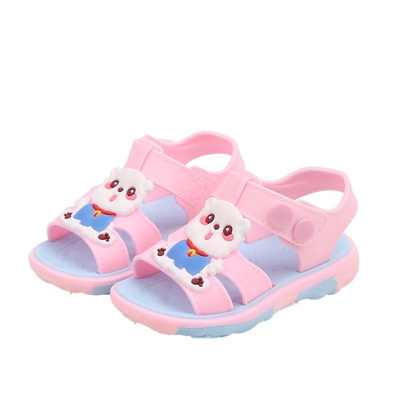Boys Girls Kids Sandals Summer Children Slippers Non-slip Soft Bottom Outdoor Beach Shoes Little Girls Princess Sandals Baby