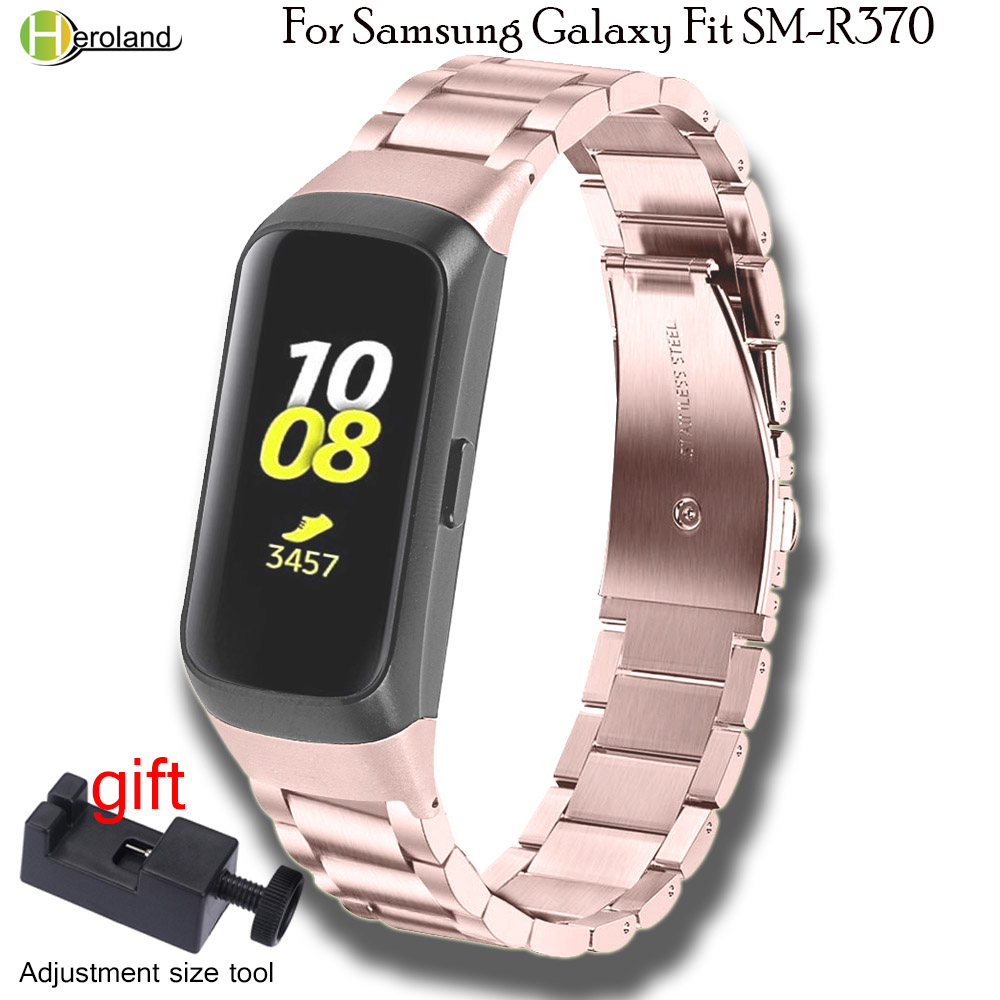 Hero Iand Stainless Steel Strap Watch Band For Samsung Galaxy Fit SM-R370 Smart Wristband Bracelet High Quality Metal Watchstrap