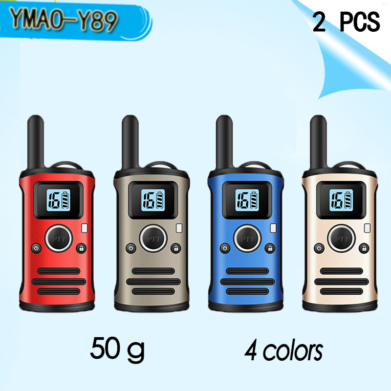 (2 PCS)YMAO Y89 MINI Walkie Talkie Portable UHF Handheld Ham 99CH Ultra-small Radio Communicator HF Transceiver With Earpiece