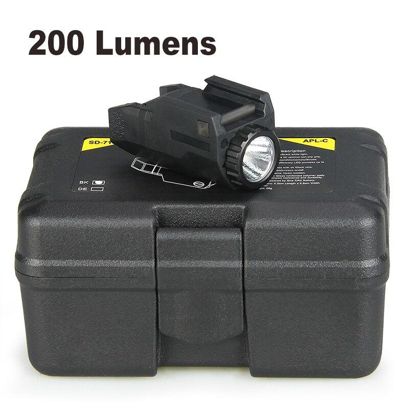 trijicon apl c luz tatica pistola constante momentanea strobe 200 lumens led luz branca para glock