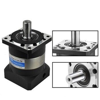цены 100:1 NEMA32 80mm Planetary Reducer Speed Ratio 100 High Precision Gearbox Reducer 20MM Output 6000rpm for Servo Motor CNC