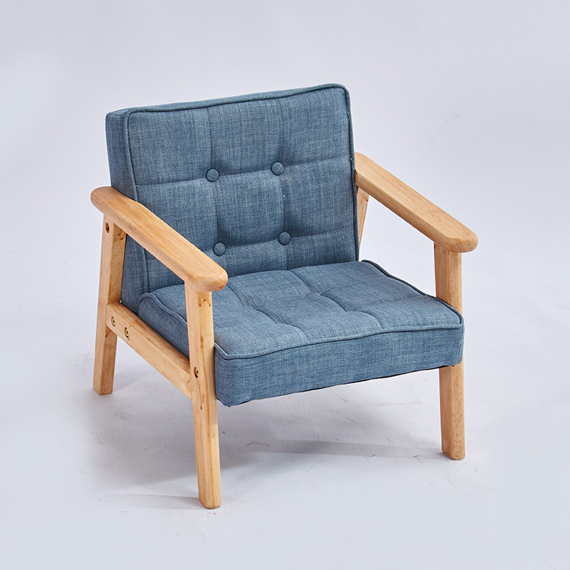 Single Child Solid Wood Sofa Kindergarten Learning Seat Early Education Center Small Sofa Children's Photography Props