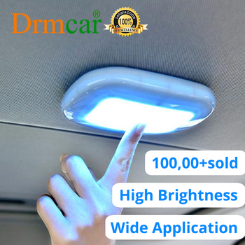 Touch Type Night Light Car Led Car Roof Light Ceiling Magnet Lamp Automobile Car Interior Reading Light Dome USB Charging Trunk цена 2017