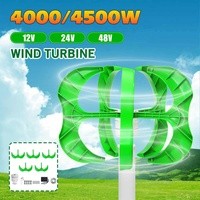 12/24/48V Wind Generator 4500W/4000W 5 Blades generator Lantern wind turbines Vertical Axis For Household Streetlight+Controller