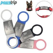 1 шт. Домашний питомец собака, силиконовая бирка из нержавеющей стали, идентификационная бирка для собак, выгравированный ошейник для собак,...