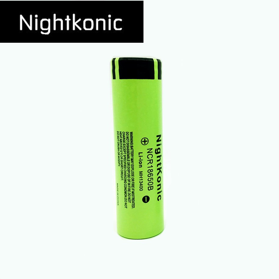 Nightkonic 3.7V 18650 battery Li-ion Rechargeable Battery 18650B for flashlight powerbank