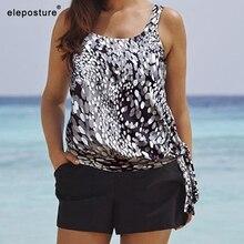2020 タンキニ水着の女性のプラスサイズの水着ハイウエスト水着ビーチウェアヴィンテージレトロ水着マイヨ · デ · ベイン