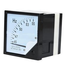 Частотный счетчик квадратный панельный частотомер 45-55Hz AC 380V 1,5 Высокоточный Частотный тестер измерительный инструмент