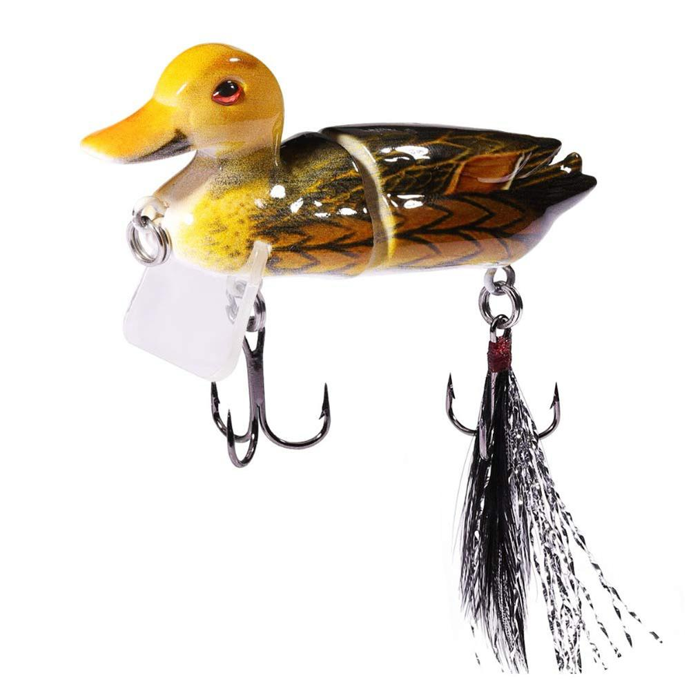 Stupid Duck Fishing Lure Floating Artificial Bait Plopping And Splashing Feet