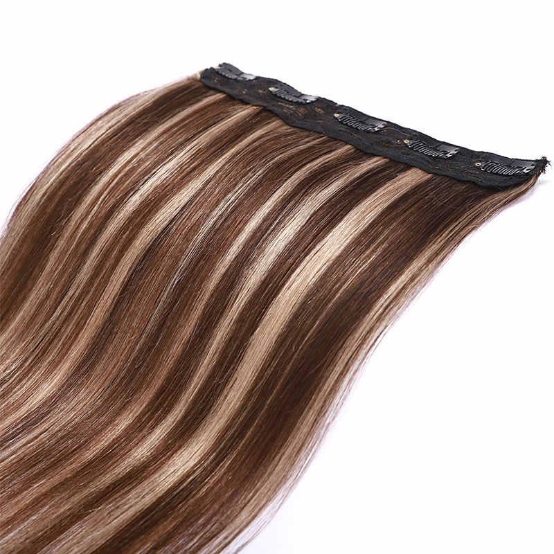 """SEGO 10 """"-24"""" Clip In Einem Stück 100% Echte Menschliche Haar Verlängerung 1 p/w 5 clips Nicht-Remy Stück Gerade Indisches Haar 40g-60g"""