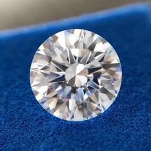 9mm luźny moissanit D kolor okrągły Brilliant Cut Moissanite Lab diament 3 Carat biżuteria luźny kamień bransoletka DIY materiał tanie tanio AWSM WHITE Excellent VVS1 none Grzywny