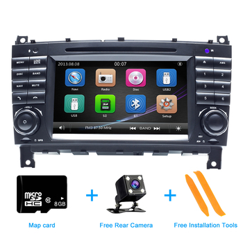 ZLTOOPAI Car DVD Player Auto Radio For Mercedes Benz W203 W209 W219 A C Class A160 C180 C200 CANBUS Car Multimedia Player GPS image