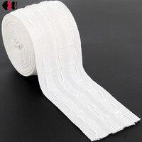 Perde kumaşı bant kanca çekme pilili Grommet üst bant beyaz şerit bant kalınlaşma DIY dikiş perde aksesuarları CP101B