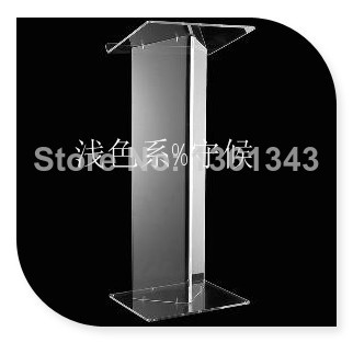 Hot SellingClear Acrylic Podium Pulpit Lectern / Acrylic Table Top Lectern