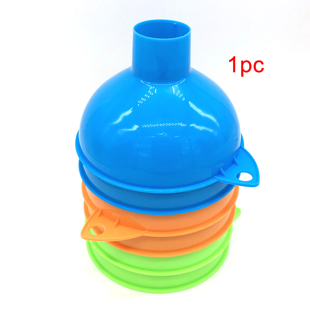 1Pc Plastic Oil Fuel Funnel Hopper Plastic Kitchen Gadgets Home Reusable Durable Wide Mouth Wear-Resistant Funnel