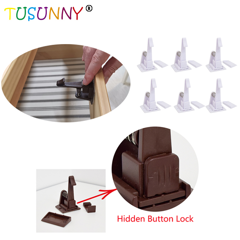 TUSUNNY 6 Pcs Magnetic Baby Child Kids Safety Latch Magnetic Locking System Drawer Cabinet Cupboard Lock