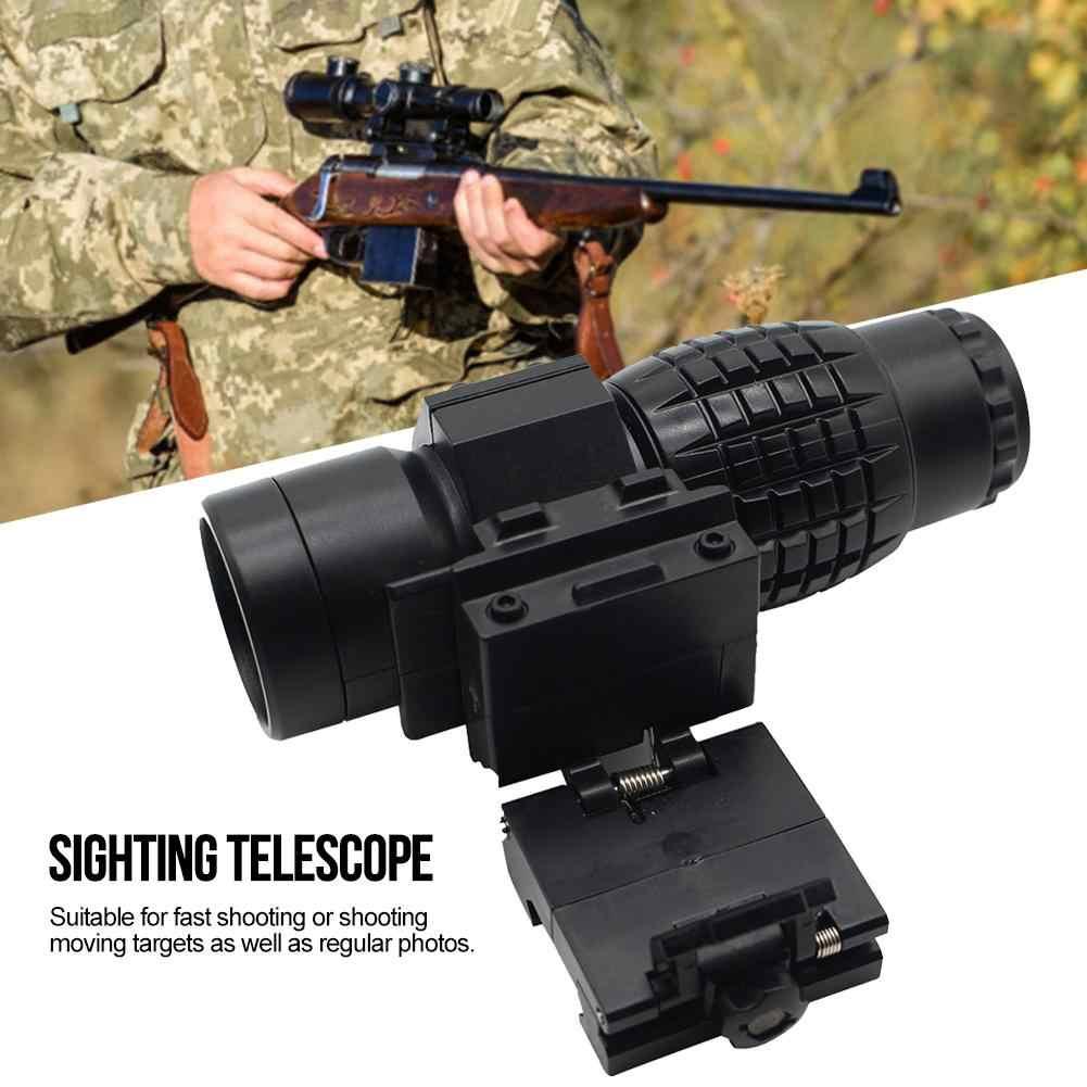 Deportes al aire libre 3x lupa táctica lupa caza alcance para Riflescopes juguete montaje se adapta a la visión del holograma de la gama de caza
