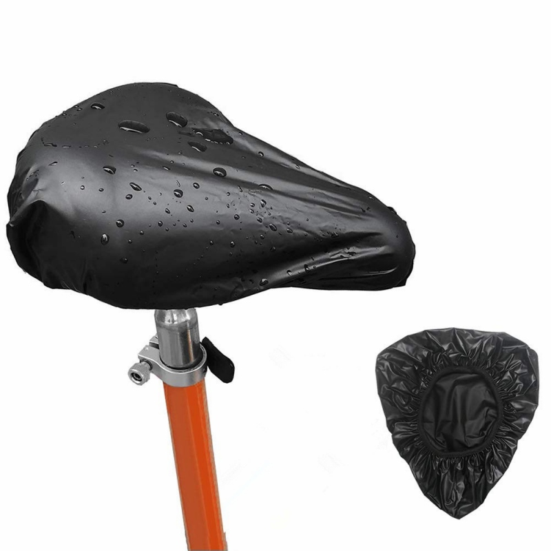 Saddle Cover Waterproof UV Protection PVC Bike Seat Protector Pad Outdoor Cycling Bicycle Protective Accessories Black Zi