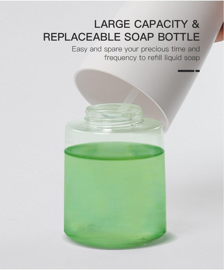 H98d6d21a97844cf8aad8dbcd152752e4f 350ml Automatic Soap Dispenser Hand Free Touchless Sanitizer Bathroom Dispenser Smart Sensor Liquid Soap Dispenser for Kitchen