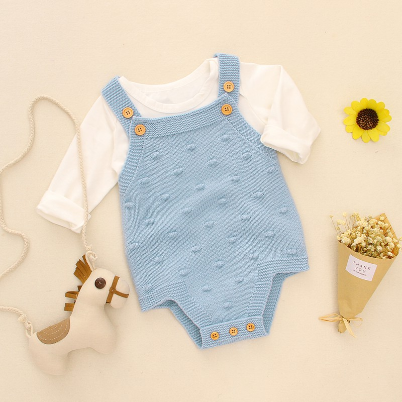 Baby Romper Set Infant Jumpsuit Overall Sleeveless Baby Boys Clothing Autumn Knitted Girls Baby Casual Clothes