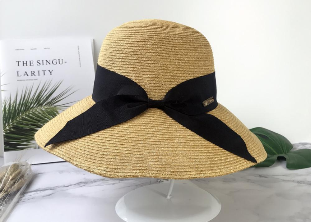 Liu Yifei With A Summer Sun Hat Foldable Bow Sun Protection Travel Uv Protection Day Hat Lady