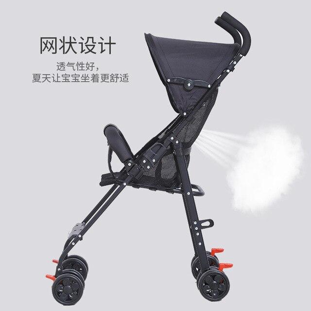 2019 תינוק עגלת סופר אור וקל לנשיאה תינוק עגלת מתקפל ויושב