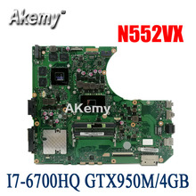 N552VX Motherboard Für For Asus N552VW N552VX N552V N552 laptop mainboard I7-6700HQ GTX950M/4GB