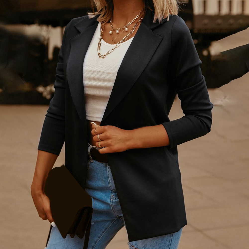 2020 New Fashion Women's Suit Business Suit Spring and Autumn All Match Women's Jacket Short Loose Long Sleeve Suit Women's Coat