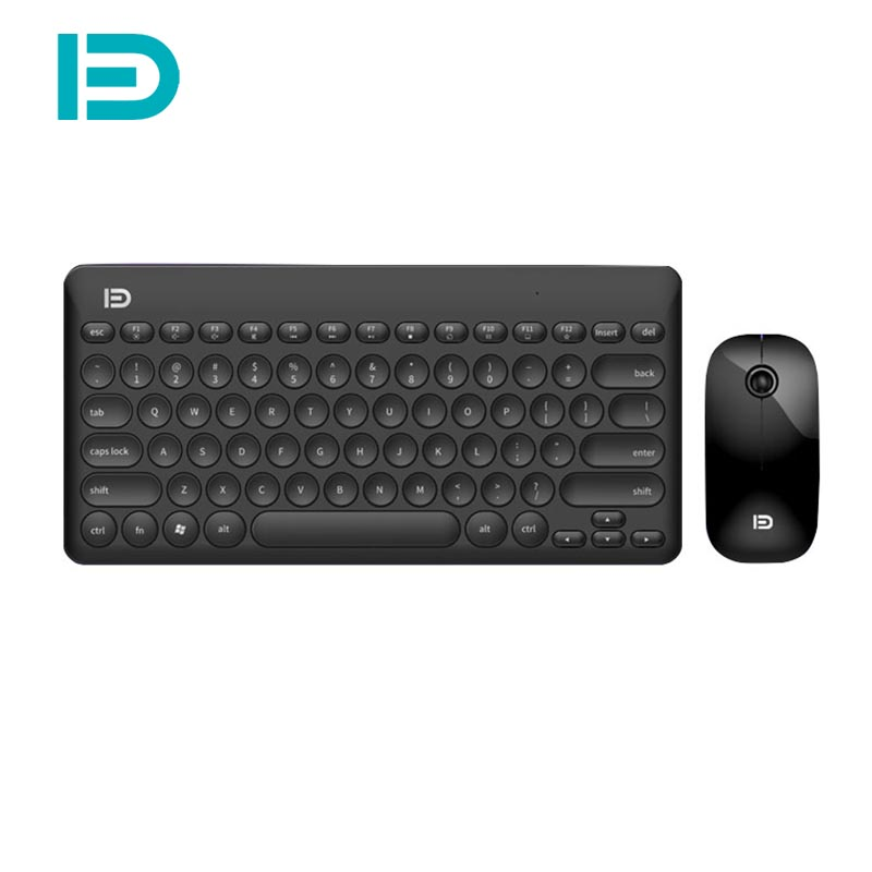 Optical Wireless Keyboard and Mouse Comb Silent Click Mutimedia 2.4G USB Keyboard Mouse Set for Notebook Office Supplies