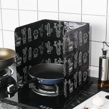 Кактус печатная алюминиевая фольга масляный блок маслосъемная плита Кук анти-брызг масла перегородка тепло кухонная посуда изоляция