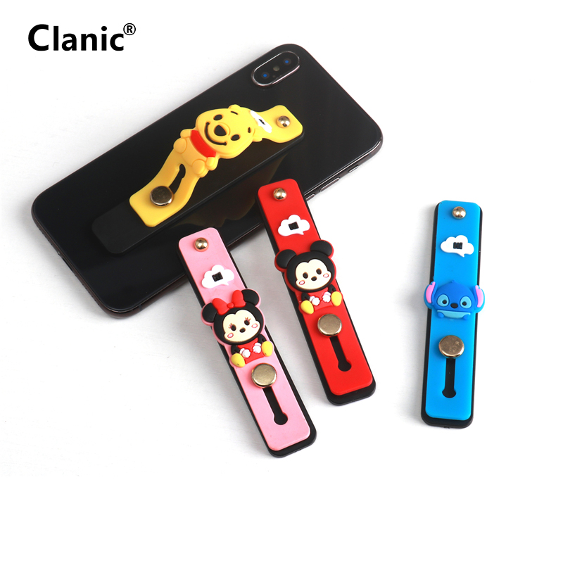 Universal Cartoon Cell Phone Ring Mobile Support Phone Grip Finger Ring Holder Stand For Iphone 10 11 Plus For Xiaomi Huawei
