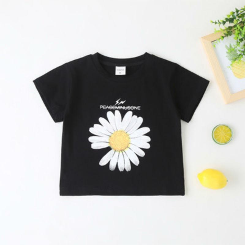 2pcs Lot Brand 2020 Sunflower Cartoon T Shirt Kid New Summer T