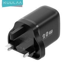KUULAA 20W UK USB Typ C Ladegerät Für iPhone 12 Pro Max Mini Quick Charge 3,0 QC PD USBC USB-C Schnelle Lade Reise Wand Ladegerät