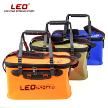 LEO Portable Folding Fish Wear Bucket Outdoor EVA Fishing Tackle Boxes with Handle Fishing Bags Outdoor Fishing Water Tank
