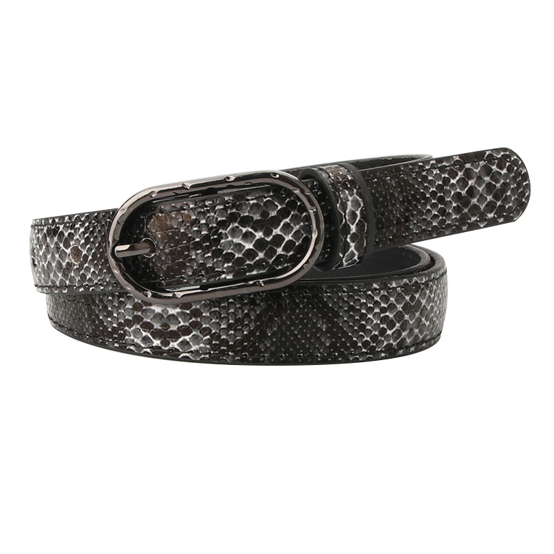 High Quality Female Pu Leather Snake Skin Waist Belt Women 2019 Hot Designer Thin Skinny Belts For Women's Dress Cinto Feminino