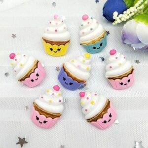 10 шт. Милая полимерная для торта мороженое миниатюрная Аппликация DIY домашний декор скрапбук ремесло A54