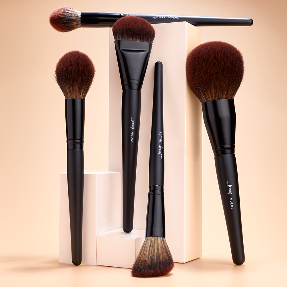 Jessup New Arrival Makeup brushes brushes Phantom Black 3-21pcs Foundation brush Powder Concealer Eyeshadow Synthetic hair 2