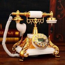 Европейский винтажный квадратный стационарный телефон Антика античный Британский стационарный телефон Telefono Fijo для дома и офиса белый красный